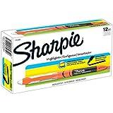 Sharpie Liquid Highlighters, Chisel Tip, Fluorescent Orange, Box of 12