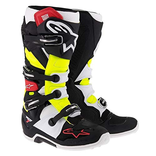 Alpinestars Tech 7 Mens Black/Red/Yellow Motocross Boots - 9