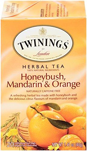 Twinings Unwind Herbal Tea, Honey Bush, Mandarin and Orange, 20 tea bags, 1.41 oz. Boxes, 6 Pack