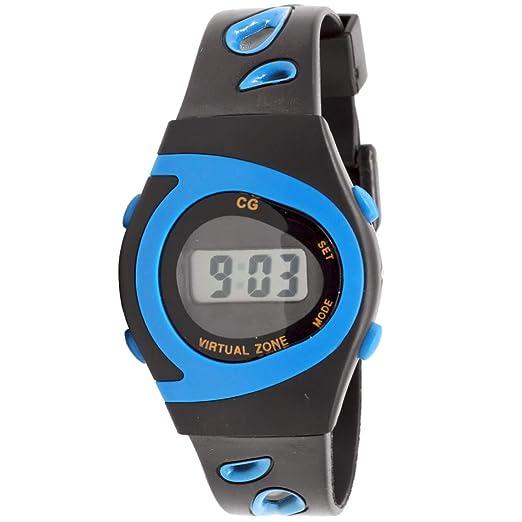 Christian Gar 418-A Reloj Digital Unisex Caja De Resina Esfera Color Azul: Amazon.es: Relojes