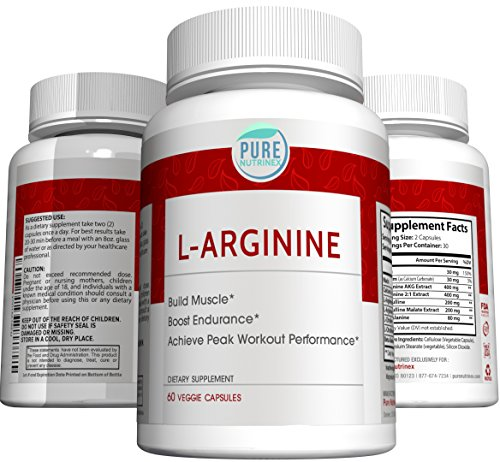 Pure Nutrinex L-Arginine N.O. AAKG and L-Citrulline for Fast Lean Muscle Growth, Peak Workout Performance, Immediate Muscle Recovery, and Best Pumps Ever (Recovery Peak)