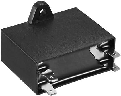 Sourcing Map 2 Stück Cbb61 Betriebskondensator 450v Ac 6uf Doppelt Pol Für Deckenventilator De Auto