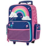 Stephen Joseph Girls' Little Classic Rolling Luggage, Rainbow, No No Size