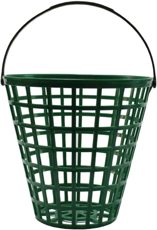 BESPORTBLE Golf Ball Basket, Golfball Container with Handle Ball Holder Contain Stadium Accessories (Green, Can Pack 75pcs)
