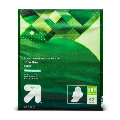 Ultra Thin Long Super Pads with Wings 42ct - Up&Up153; (Compare to Always Ultra Thin Long Super) by up & up™