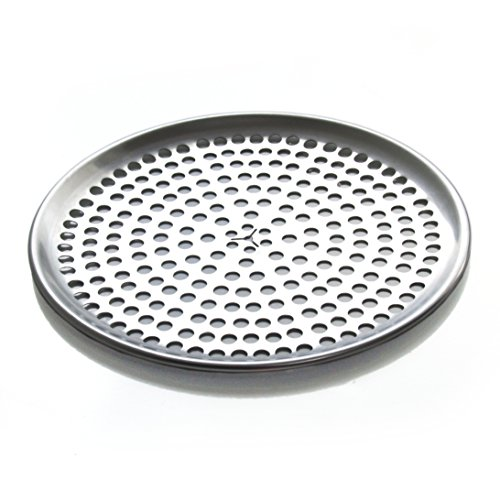 """Browne  9"""" Perforated Aluminum Pizza Tray"""