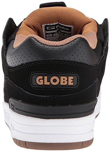 Globe Fusion Skate Schuh Schwarz / Weiß / Tabak