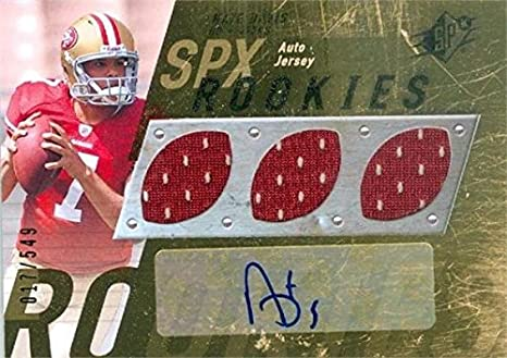 71220daf6 Image Unavailable. Image not available for. Color  Nate Davis autographed  player worn jersey patch football ...