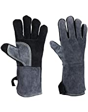 Forge Welding Gloves Heat Resistant for Grill BBQ Firplace Wood Stove