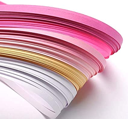 Paper Quilling Strips Pink//Yellow 53cm x 5mm Pack Of 110+