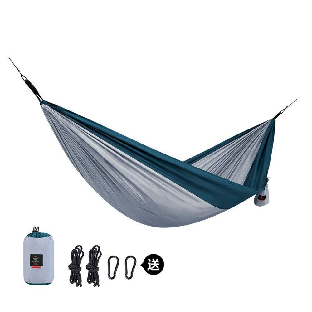 Zyyaxky Swing Hängematte Outdoor Doppelrollover Prävention Erwachsene Kinder Camping Stuhl Schlafsaal Einzel, C
