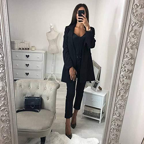 Ceinture Sodial Pour Blanc Manteau S Couleur La Veste Noir Petit Longues De Roulé Costume À Coupe Ol vent Manches Mode Cardigan Femme Avec Pure F1PSrF