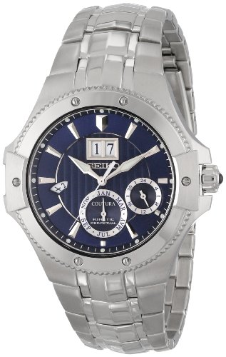 Seiko Coutura Kinetic Perpetual (Seiko Coutura Kinetic Perpetual Blue Dial Stainless Steel Mens Watch SNP069)