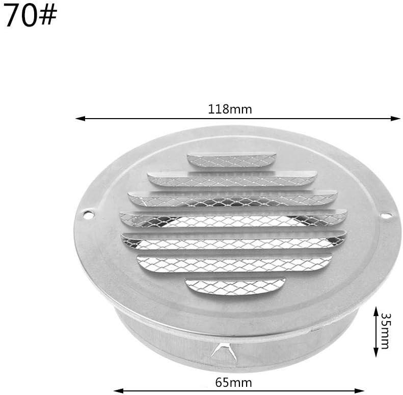 120 Huiouer Grille de Ventilation Murale ext/érieure en Acier Inoxydable Grille da/ération Grille Ronde Gaine de Ventilation