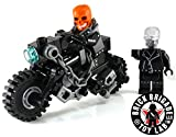 Brick Brigade Custom LEGO Comic Movie Superhero Ghost Rider on Bike