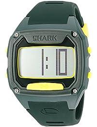 Unisex 10025775 Shark Tooth Digital Display Japanese Quartz Green Watch