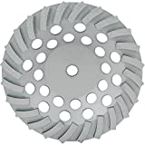 Lackmond Beast SPP Turbo Segmented Cup Wheel - 7'' Stone Grinding Wheel with Diagnol Segments for Maximum Surface Coverage & 7/'' - 5/8'' Arbor  - BESPPSTC7S24