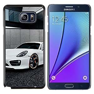 Caucho caso de Shell duro de la cubierta de accesorios de protección BY RAYDREAMMM - Samsung Galaxy Note 5 5th N9200 - Blanca Panamera