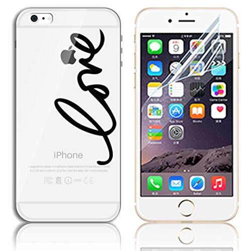 Transparente TPU Funda para iPhone 6 Plus 5.5 Silicona Gel Sunroyal Resistente a los Arañazos en su Parte Trasera Flexible Bumper Case Cover [Anti-Gota] [Choque Absorción] Ultra Fina Protectora Alta  A-09