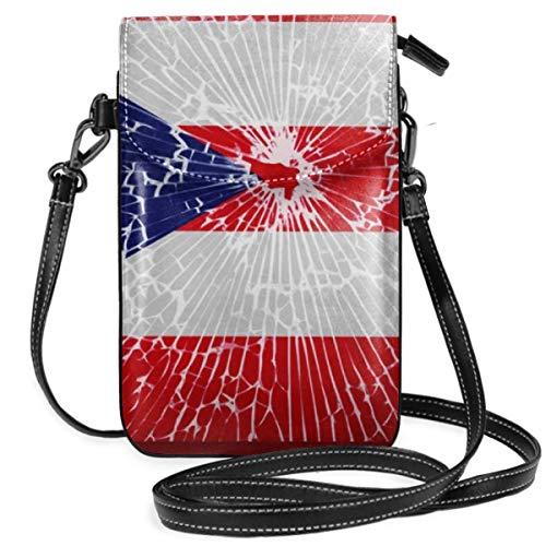 Women Ladies Girls Roomy Pockets Smartphone Carry Case Pouch Handbag Credit Card Security Pack, Waterproof, Hiking Sports bag - Puerto Rico Flag Tie Dye