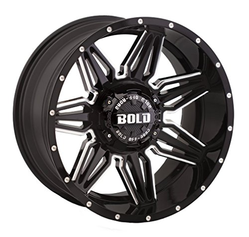Bold Off Road BD0012010053-24GBX 20x10 5x127 (5x5) & 5x135 -24mm Offset Gloss Black Wheel
