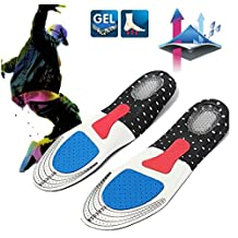 For : Women 1 Pair Free Size Unisex Gel Orthotic Sport Shoe Pad Arch Support Insoles Insert Cushion by STCorps7