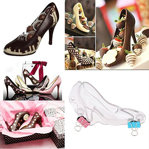 Cacys-Store - DIY 3D Chocolate Mold Plastic Mini High-heel Shoe Shape Candy Sugar Paste Mold Cake Decoratiing Tools Kitchen Baking Mold (Heel Mini High)