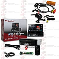 Pioneer 1DIN 7 Flip-up Motorized Car AM/FM DVD MP3 WMA CD Player Bluetooth USB AUX with JDM 170° Back-up Rear view Camera