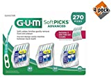 Sunstar 6505A Gum Soft-Picks Advanced (Pack of 270), 4 Pack