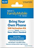 Walmart Family Mobile 3-in-1 SIM Card Kit (by T-Mobile)