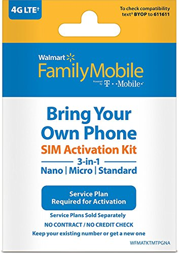Walmart Family Mobile 3-in-1 SIM Card Kit (by T-Mobile) by Family Mobile