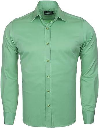 Makrom SL 1045-C - Camisa clásica de doble puño: Amazon.es: Ropa y accesorios