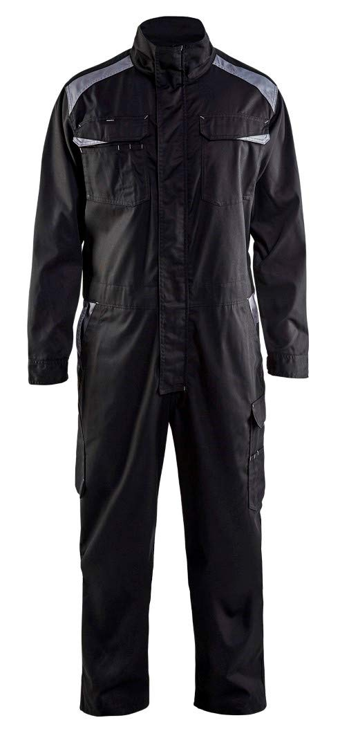 Blaklader 605418009994C58 Industry Overall, Size 42/32, Black/Grey by Blaklader (Image #1)
