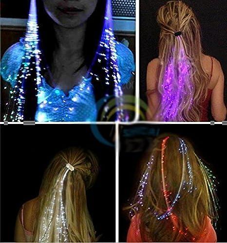 haute couture comment acheter plus grand choix Uchic 12 pcs Flash LED Cheveux Light Emitting Fibre Optic ...