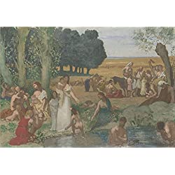 The Polyster Canvas Of Oil Painting 'Pierre Cecile Puvis De Chavannes Summer ' ,size: 16 X 23 Inch / 41 X 59 Cm ,this High Definition Art Decorative Prints On Canvas Is Fit For Study Decor And Home Artwork And Gifts