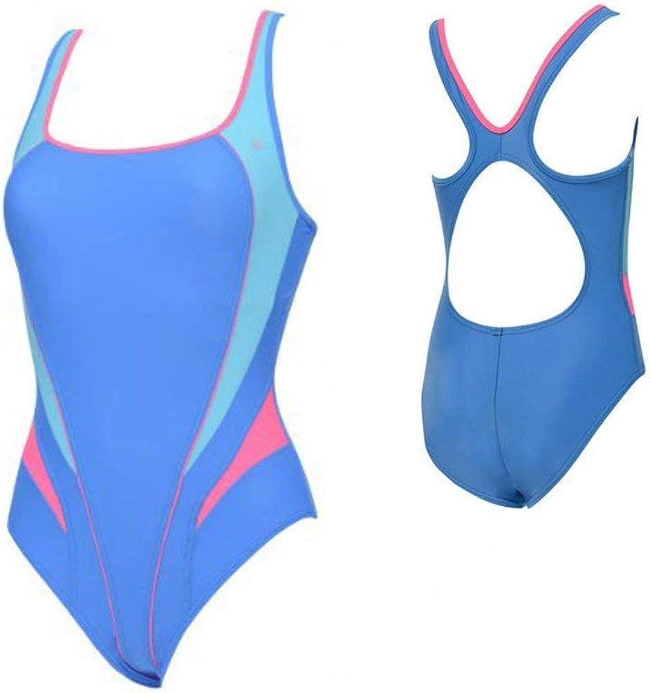 Aqua Sphere Women's Swimsuit Lima, Blue/Bright Pink, 36