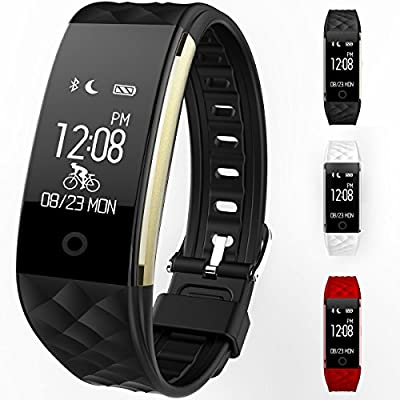Fitness Tracker S2 Smart Wristband Bracelet with Heart Rate Monitor, IP67 Waterproof Wireless Bluetooth 4.0 Call Remind Auto Sleep Monitor Sport Pedometer Activity Tracker for Android IOS Phones