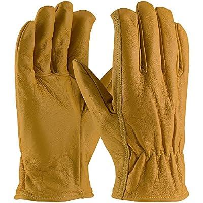 Small PIP Kut-Gard Kevlar Lined Goat Skin Grain Leather Drivers Glove - Cut Resistant (Pack of 1 Pair) 09-K3700
