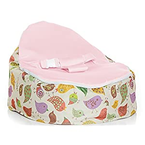Chirpy Snuggle Pod (Pink) - for use from birth to pre-teen! Includes baby seat, toddler seat, inner bag for easy bean removal, designer packaging.