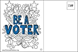 Be a Voter Postcards (Coloring Stars design), Bulk set of 100 blank 4x6 postcards printed on linen cardstock; this purchase helps support operating costs of Postcards to Voters