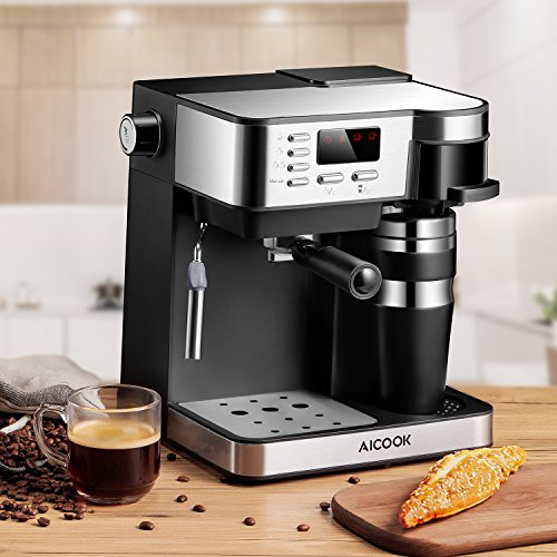 AICOOK Espresso and Coffee Machine, 3 in 1 Combination 15 ...