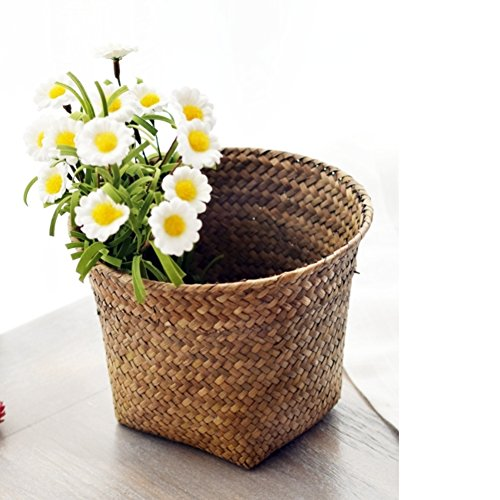 Straw Collection Basket/Flower Basket/Willow Set Vase-A