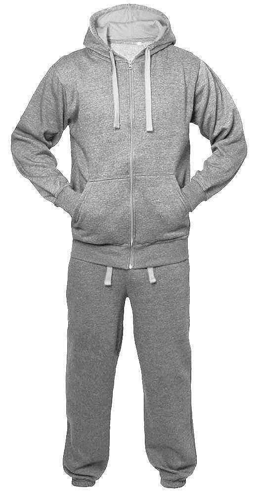 Mymixtrendz/® Kids Boys Girls Unisex Plain Casual Tracksuit Sweat Pants /& Hoodie Set