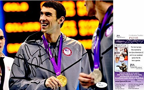 Michael Phelps Signed - Autographed Olympic Gold Medal Swimming 8x10 inch Photo - Certificate of Authenticity - JSA Certified