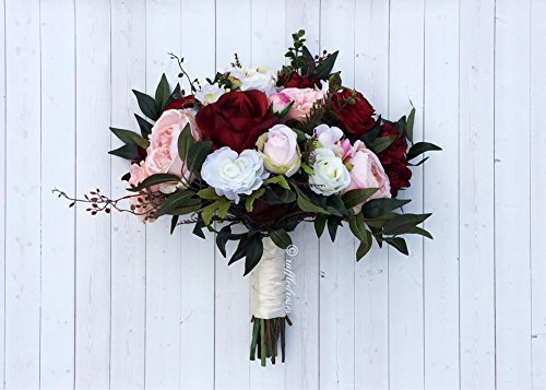 Burgundy Blush Bouquet by RuffledRoses