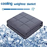 Amy Garden Cooling Weighted Blanket (60x80 Inch, 20 lbs for 160-250 lbs Individual, Grey) | Adults Heavy Blanket