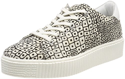 Hairon Zj4 White Maruti Women's Cato Leather Grey Crocodile Trainers 4WqHgW