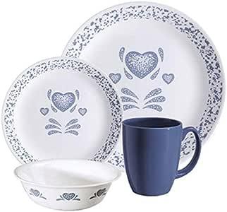 CORELLE 6022122 Livingware Blue Hearts 16-pc Dinnerware Set: Amazon.ca: Home & Kitchen