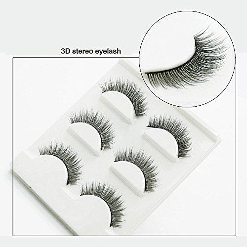 3 PCS Naturel incroyable 3D stéréo multicouche faux cils pur artisanal cils (3 paires) 3D-26