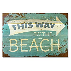 51j815U2l7L._SS300_ Wooden Beach Signs & Coastal Wood Signs